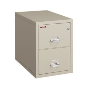 "FireKing 2-1825-C Two Drawer 25"" Deep Vertical Letter Size File Cabinet"