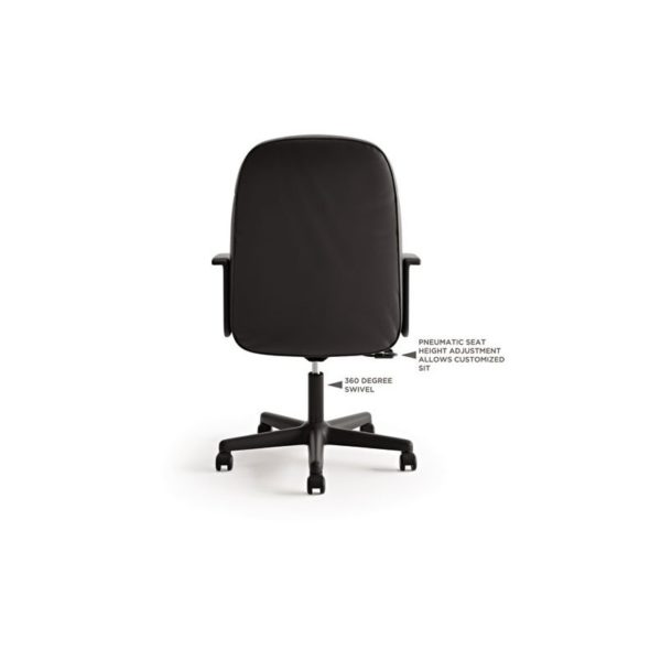 basyx - VL601 Series Executive Mid-Back Swivel/Tilt Chair, Navy Fabric/Black Frame VL601VA90
