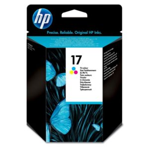 HP 17 C6625A Tri-color Ink Cartridge in Retail Packaging