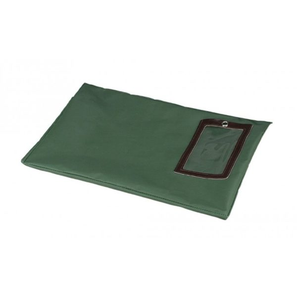 PM Company Flat Dark Green Transit Sack, 14 Inches Width x 11 Inches Height (04648)