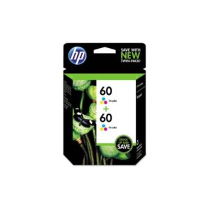 HP 60 Ink Cartridge Twin Pack Cyan, Yellow, Magenta
