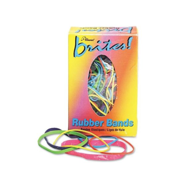 Alliance 07714 Brites Pic Pac Rubber Bands, Blue/Orange/Yellow/Lime/Purple/Pink, 1-1/2-oz Box