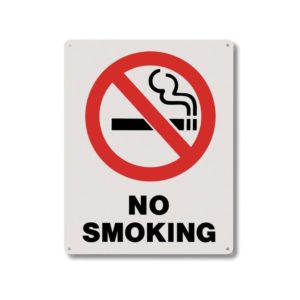 8X10 Rigid Plastic No Smoking Signs - RP115