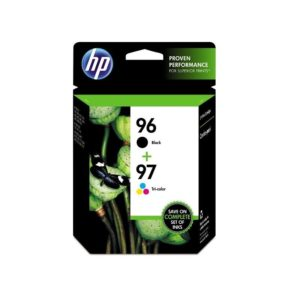 HP 96 Black & HP 97 Tri-color Original Ink Cartridges combo pack