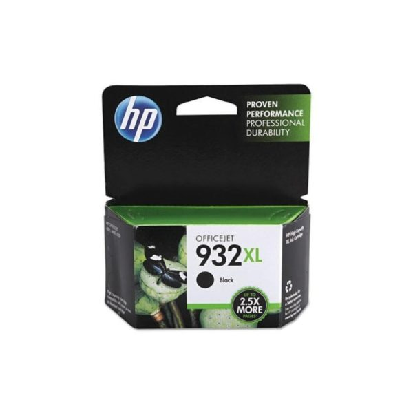 HP 932XL Ink Cartridge, 1000 Pages Yield-Black