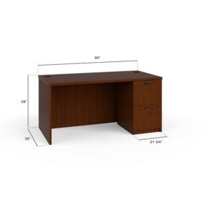 Basyx BL2104HH BL Laminate Series Rectangular Desk Shell
