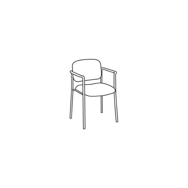 Basyx by HON VL606VA62 VL606 Armless Guest Chair