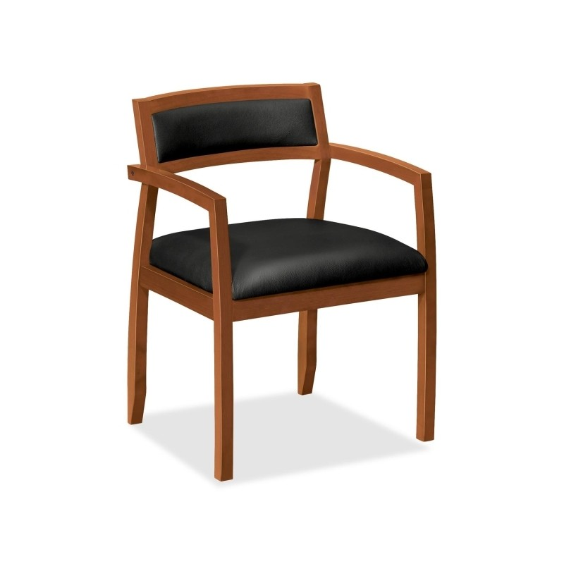 basyx by hon vl852hst11 slim black leather guest side chair