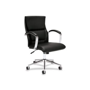 Basyx by HON VL106SB11 Executive Mid-Back Chair, Black