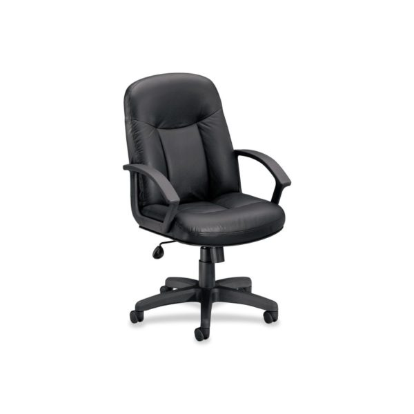 Basyx by HON VL601ST11 Mid Back Management Chair, Black