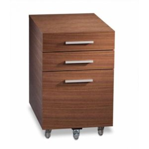 BDI Sequel Low Mobile Pedestal 6007 - Walnut