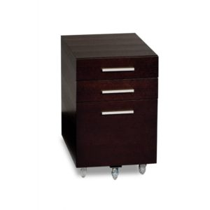 BDI Sequel Low Mobile Pedestal 6007 - Espresso Stained Oak