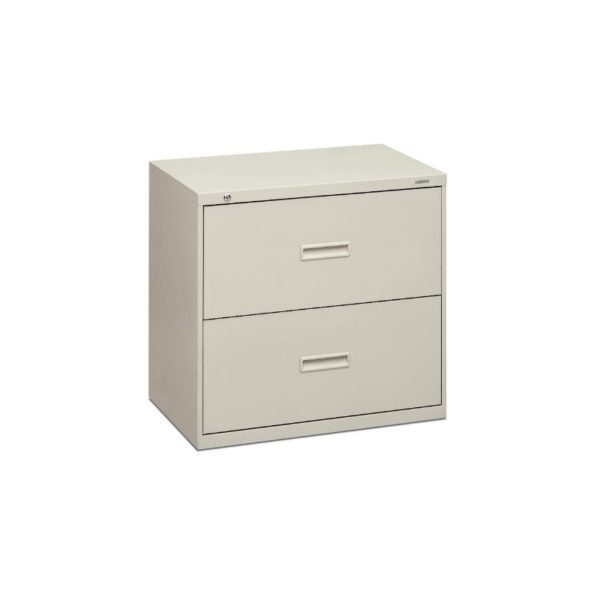 HON 432LQ 400 Series 30 by 28-3/8 by 19-1/4-Inch 2-Drawer Lateral File, Light Gray
