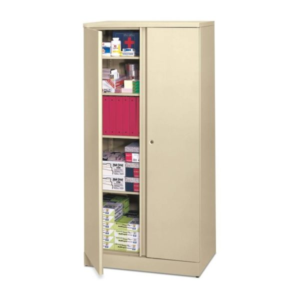 """Hon Easy to Assemble Storage Cabinet, 72""""-High, 36"""" x 18"""", Putty (HONC187236L)"""