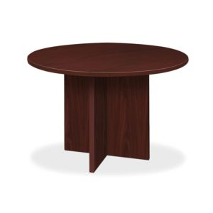 Basyx by HON BLC48DNN BL Round Conference Tables with X-Base
