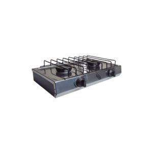 IUSA- Gaz STOVETOP - 2-Burners - Stainless Steel