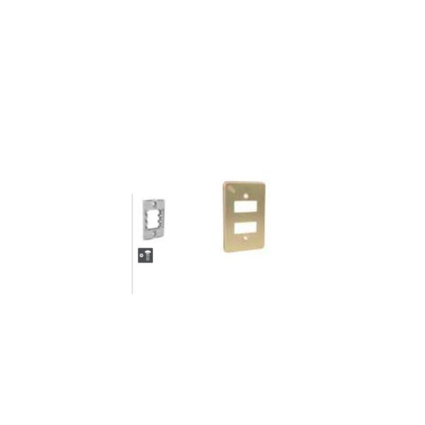 IUSA- Double SWITCH PLATE- Anodized Aluminum- Gold