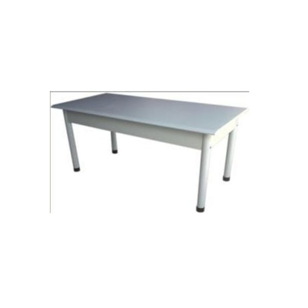 KUBIC - Heavy-Duty Metallic TABLE- 72x36 - White/Putty