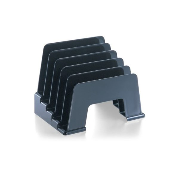 Officemate Incline Sorter, 5 Compartments, Black (21232)