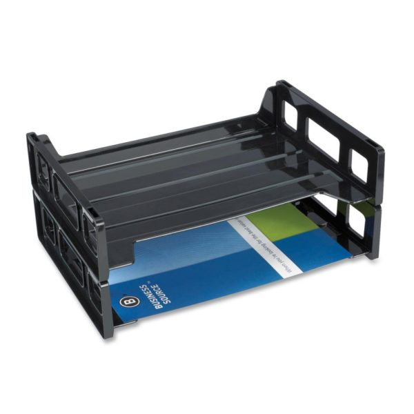 Business Source Side-loading Letter Tray Recycled - Black BSN 42585