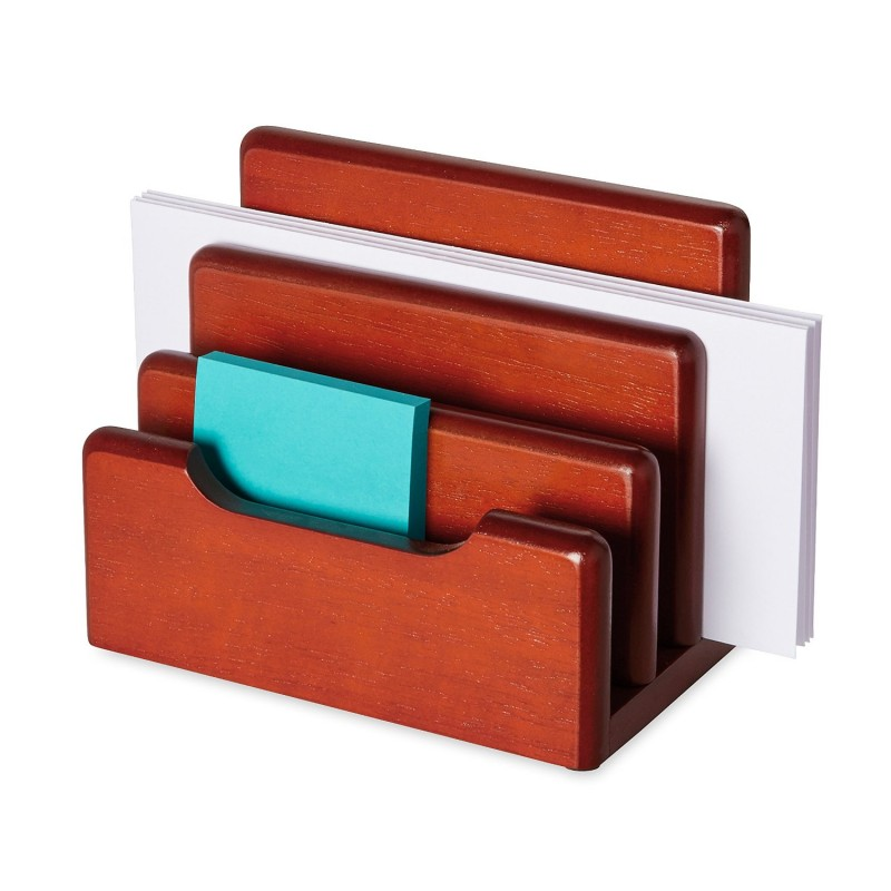 Rolodex 23420 Wood Tones Desktop Sorter Gany