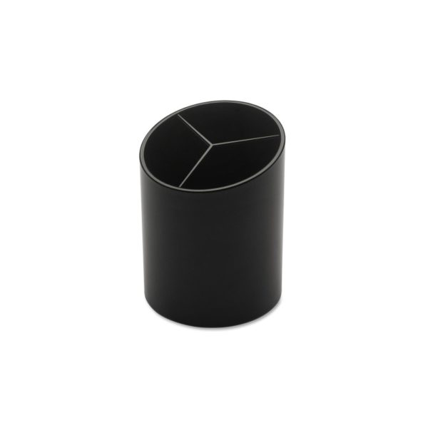 Business Source Large 3-Compartment Plastic Pencil Cup BSN32355