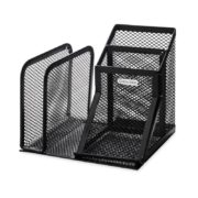 Rolodex Mesh Collection Desk Organizer, Black (22171)