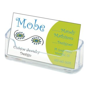 "Deflecto Business Card Holders Single Compartment, Clear, 3-3/4""W x 1-7/8""H x 1-1/2""D (70101)"