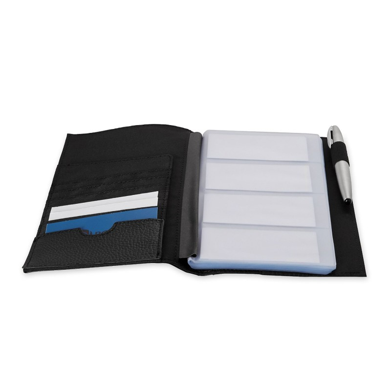 Rolodex Low Profile Business Card Book 96 Card Black 76659