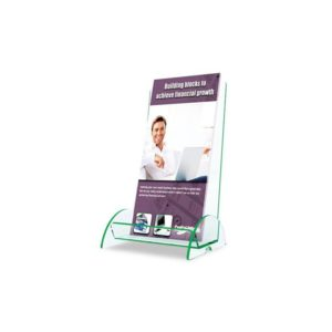 deflect-o Euro-Style Docuholder Leaflet Display Rack, Clear (775383)