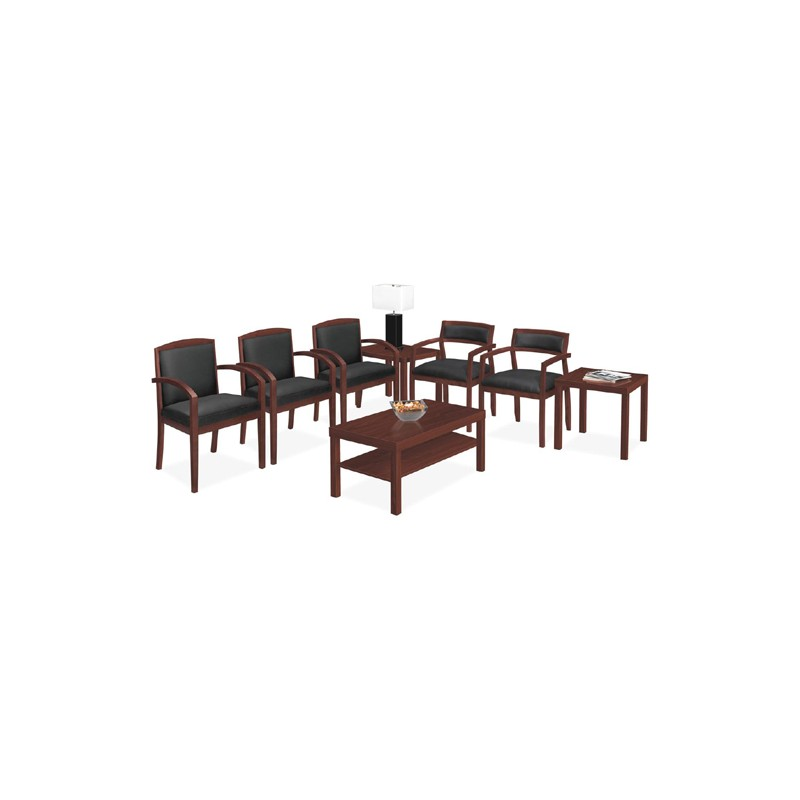 basyx by hon slim black leather guest side chair vl852nst11 vl852