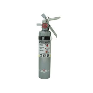Amerex 2.5 lb ABC Chrome Extinguisher B417C w/ Aluminum Valve and Vehicle/Marine Bracket