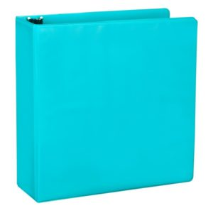 Samsill 2-Inch Fashion Presentation View Binder, Turquoise, 2 Pack (U86677)