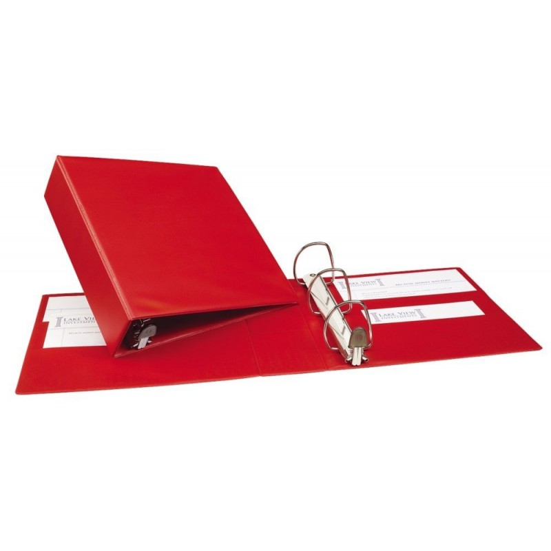 avery heavy duty binder with 3 inch one touch ezd ring red 79583