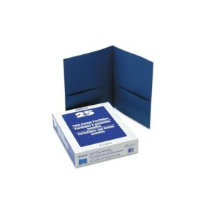 Oxford Twin Pocket Folders, Letter Size, Blue, 25 per Box (57502)