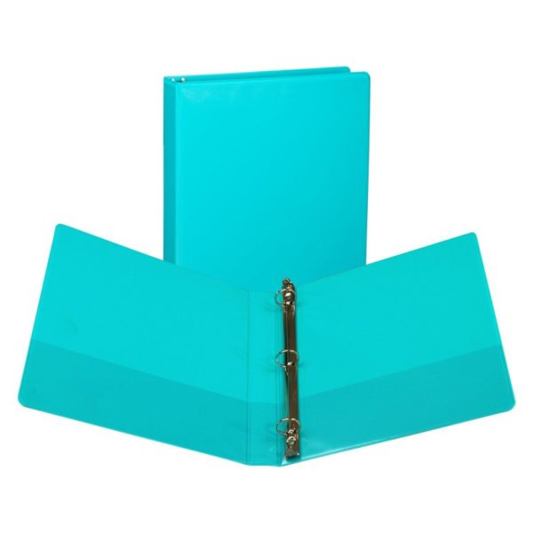Samsill Antimicrobial Presentation View Binders, 1-Inch Capacity, Turquoise, 2 per Pack (U86377)