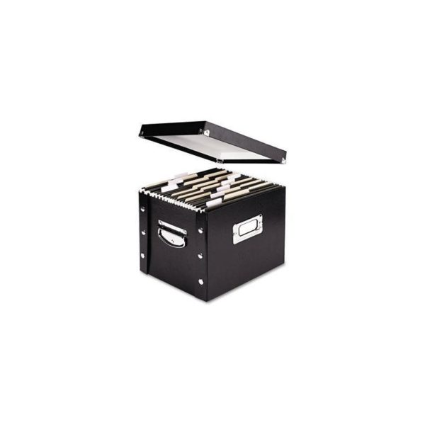 Ideastream SNS01533 Snap N Store Storage Box, Letter, 13 3/8 x 9 3/4 x 10 3/4, Black