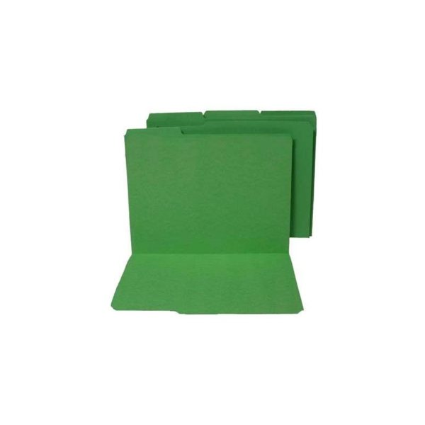 Colored File Folders Top Tab 1/3 Cut Green Letter