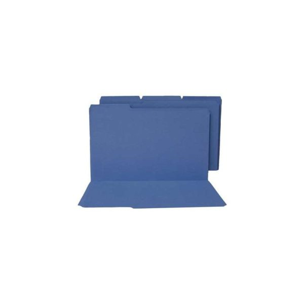 Colored File Folders Top Tab 1/3 Cut Dark Blue Letter