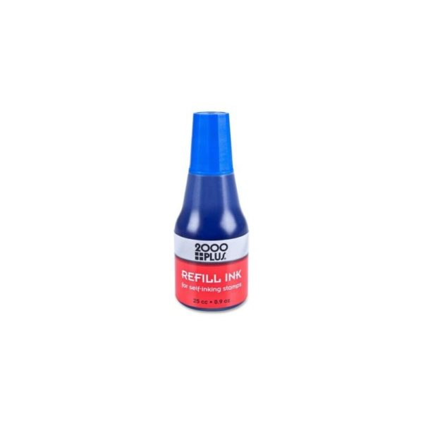 2000 PLUS- INK REFILL for Stamps - 0.9oz - BLUE