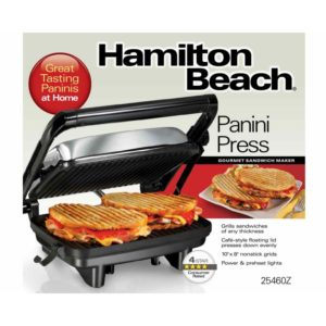 Hamilton Beach Panini Press Gourmet Sandwich Maker (25460Z)