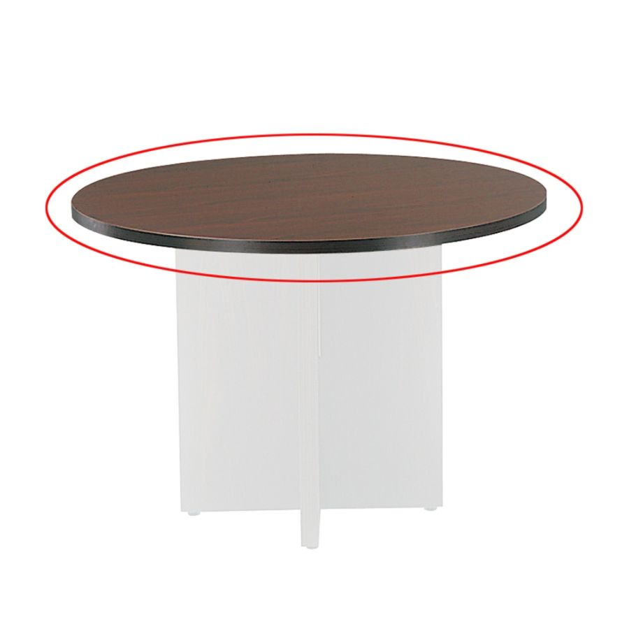 Basyx By HON Round Conference Tabletop Diameter Mahogany - Hon round conference table